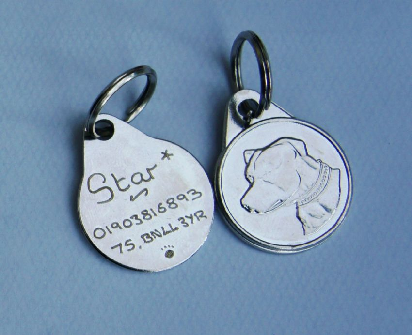 STAFFORDSHIRE BULL TERRIER 25mm ID TAG